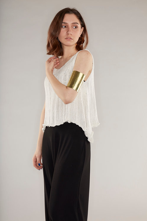 Viscose drape knitted top