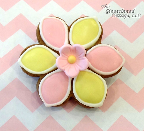 Mother's Day Pink & Yellow Daisy ~ 1 Cookie