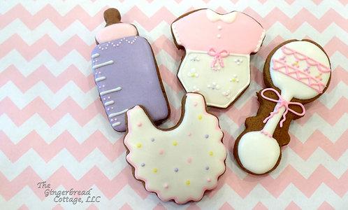 Baby Cookies Large  4 Inch - Dozen