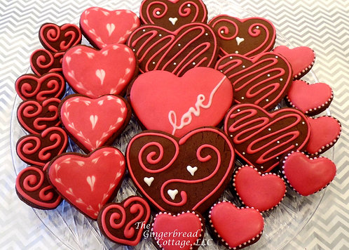 """""""Hearts"""" Cookie Collection   - 25"""