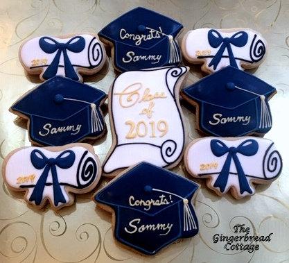 Graduation Cookies, Personalized - Dozen