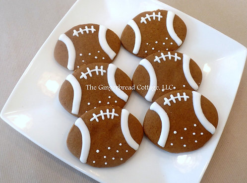 Football Cookies - Dozen