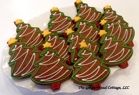 Christmas Tree Cookies - Dozen