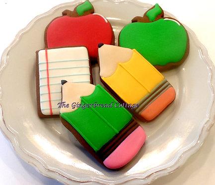 School Themed Cookies -  Dozen