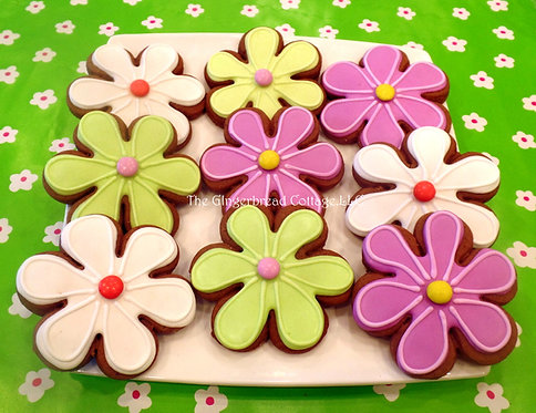 Colorful Flower Cookie Set - Dozen