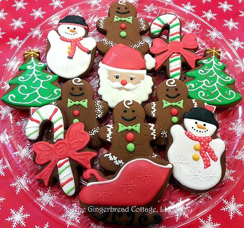 Santa Cookie Platter - Dozen