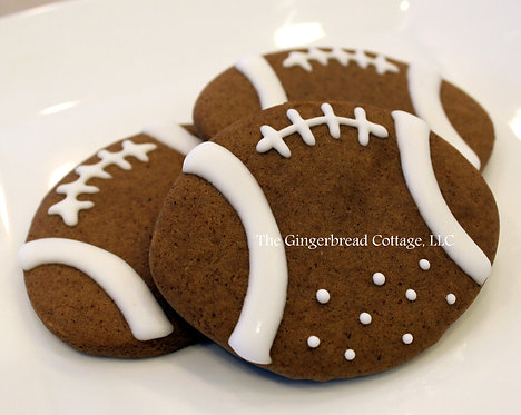 Football Cookies ~ Dozen