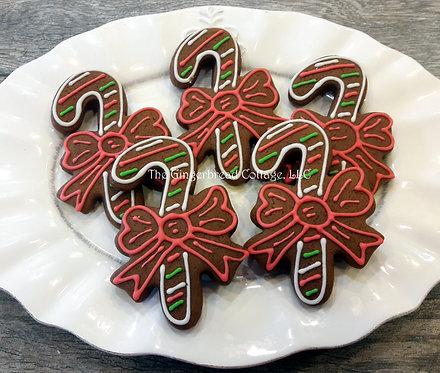 Candy Cane Cookies ~ Dozen