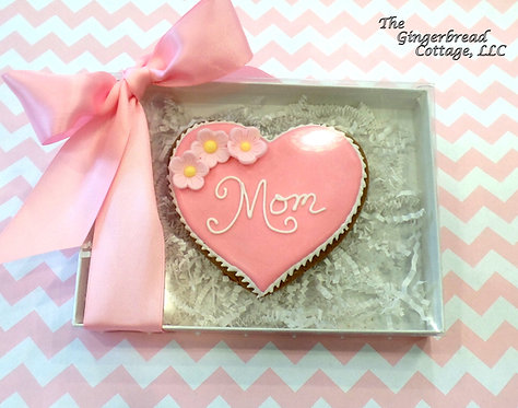 Large Mother's Day Heart Cookie