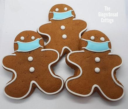 Masked Gingerbread Men -half dozen