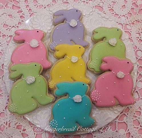 Easter Bunny Cookies - Dozen
