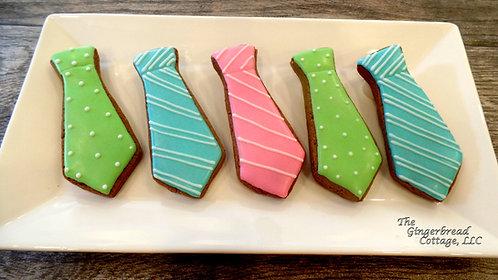 Tie Cookies - Dozen
