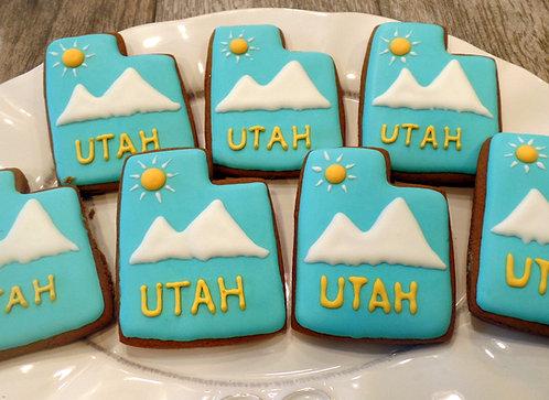 """Utah Cookie """"Snow-Capped Mountain - Dozen"""