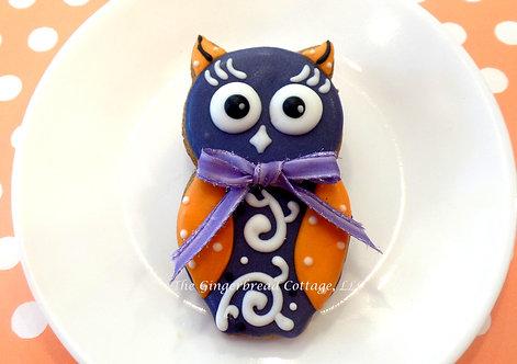 Halloween Owl Cookie - Dozen
