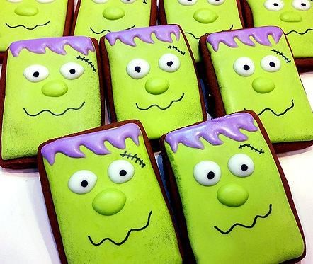 Halloween Frankenstein Cookies - Half Dozen
