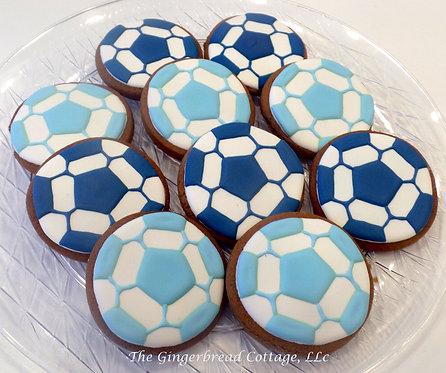 Soccer Ball Cookies - Dozen