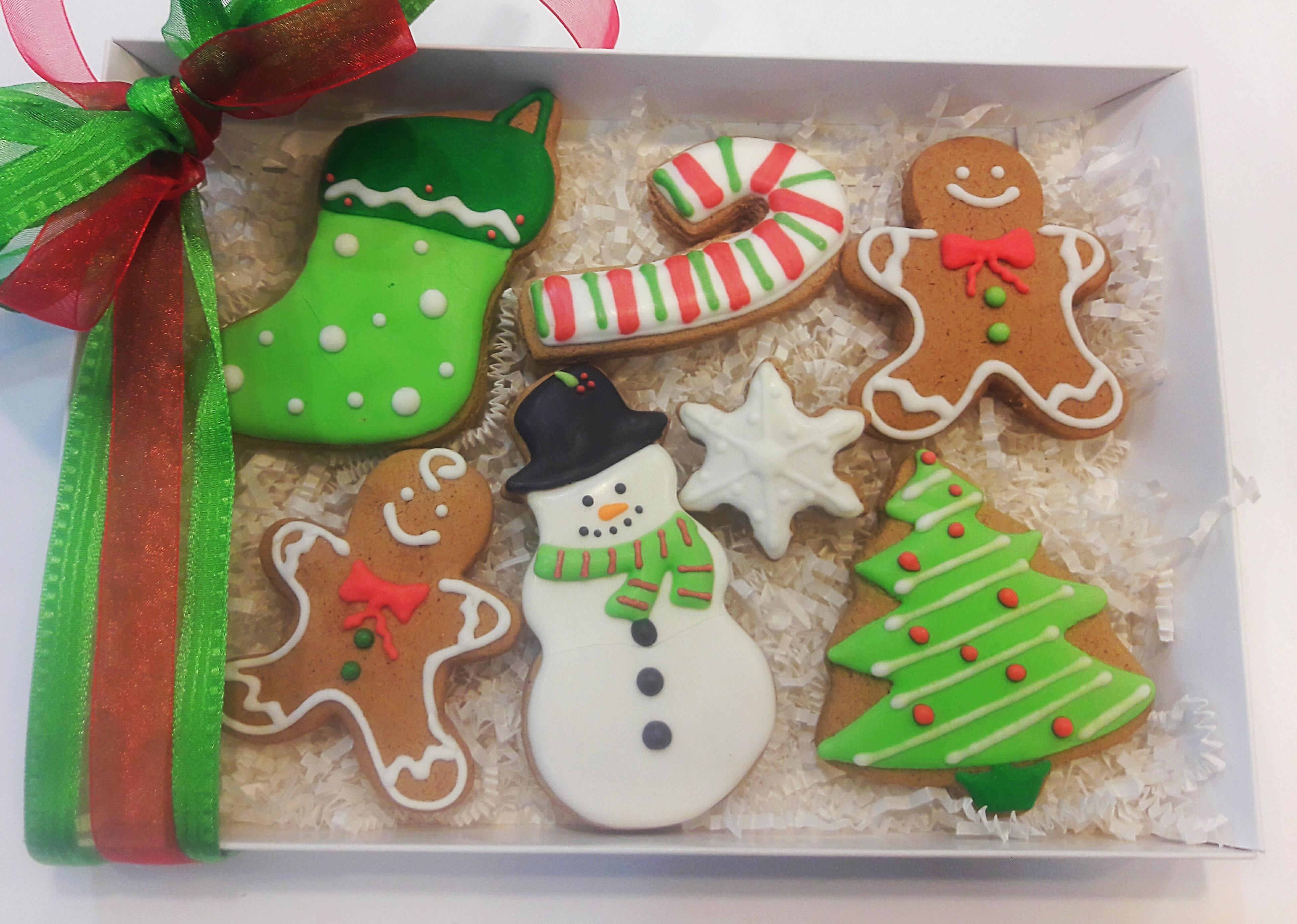 Christmas Cookie Gift Box 7 Cookies