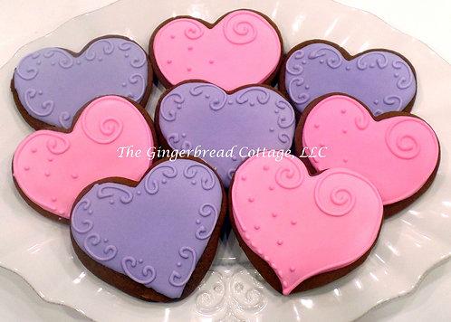 """Heart Cookies 3"""" - Dozen"""