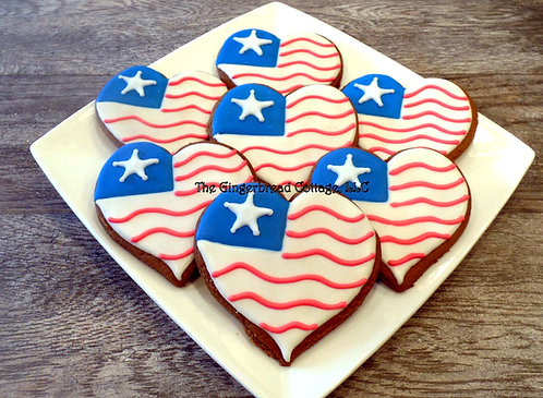 Fourth of July Cookies ~ Dozen