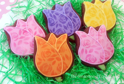 Easter Flower Cookies ~ Dozen