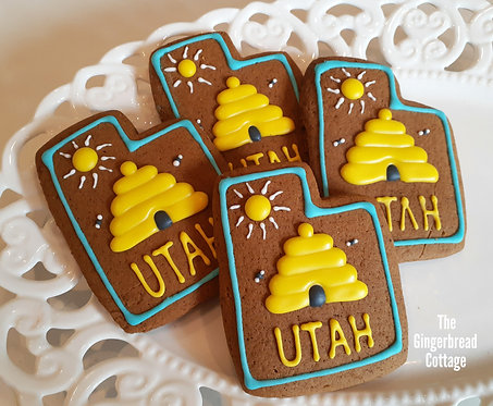 """""""Utah"""" Cookies Beehive - Dozen"""