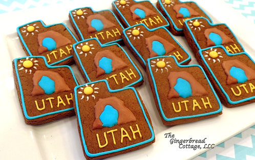 """Utah"" Cookies, lightly-iced - Dozen"