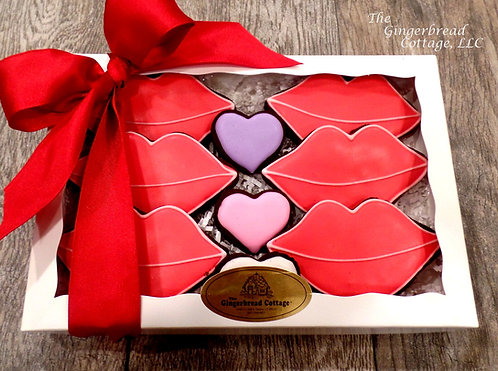 "Valentine's ""Hot Lips"" Collection - 9 Cookies"