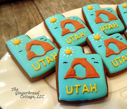 """""""Utah"""" Cookies - Half Dozen (6)"""