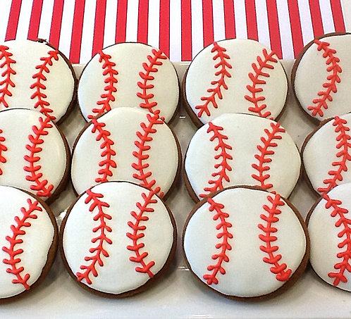Baseball Cookies - Dozen