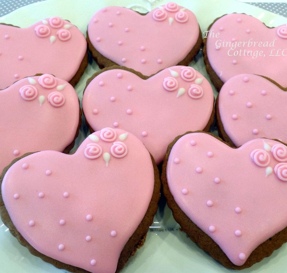 Elegant Heart Cookie 4 Dozen