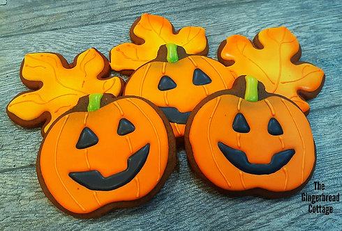 Halloween pumpkin Jack-o'-lanterns - Dozen
