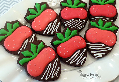 "Strawberry Cookies ~ 3 1/2"" - Dozen"
