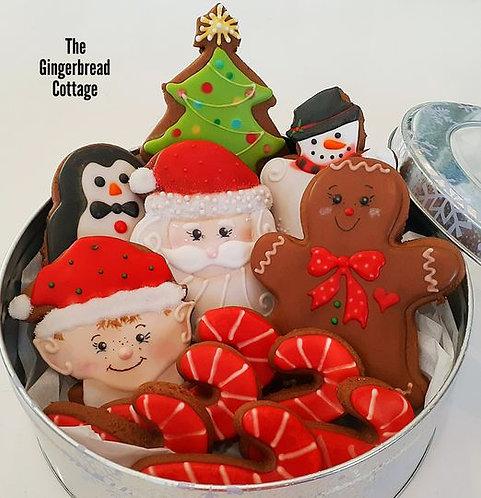 Christmas Santa's Toy Shop Cookies, Large -Dozen