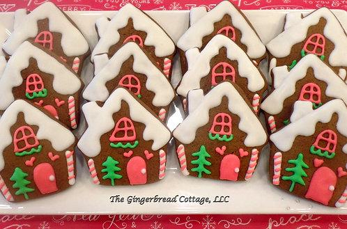 """3 1/2"""" Gingerbread House Cookies - Dozen"""