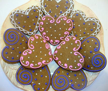 Valentine Heart Cookies - Dozen