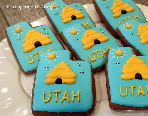 """Utah Cookie """"Beehive"""" - Dozen"""
