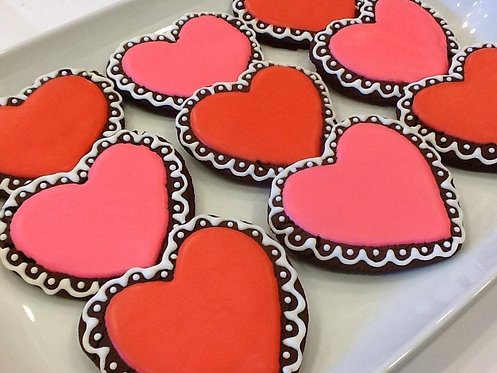 "Personalized Heart Cookies, 4"" ~ 1"