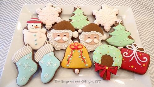 Santa Christmas Platter - Dozen