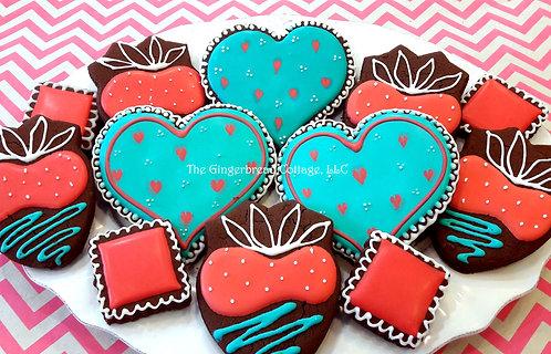 Chocolate Valentine Cookie Platter