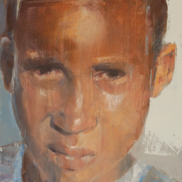 _Township Child_ 400x400x50 mm OIL on ca