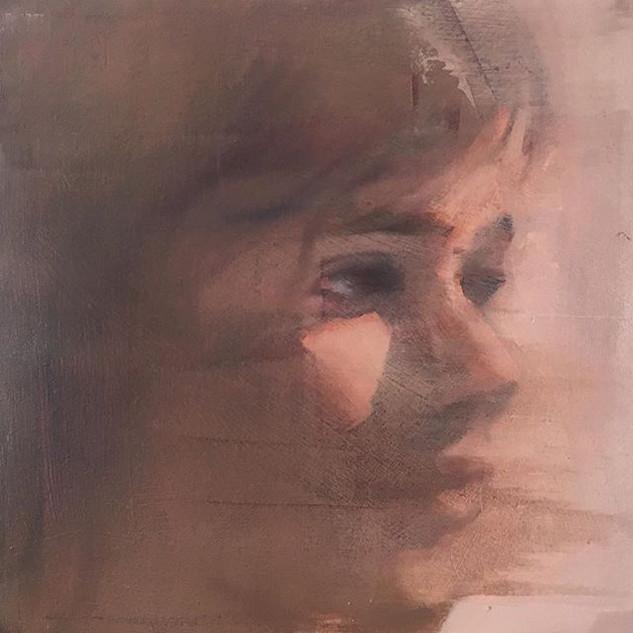 Portrait #oil #painting #face #gessoboar