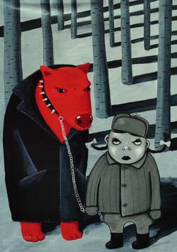 Серая шапочка и красный волк