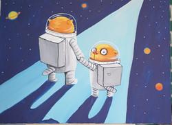 В космическую даль
