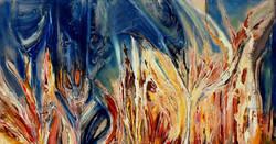 רחש הצבעים ציור אבסטרקט