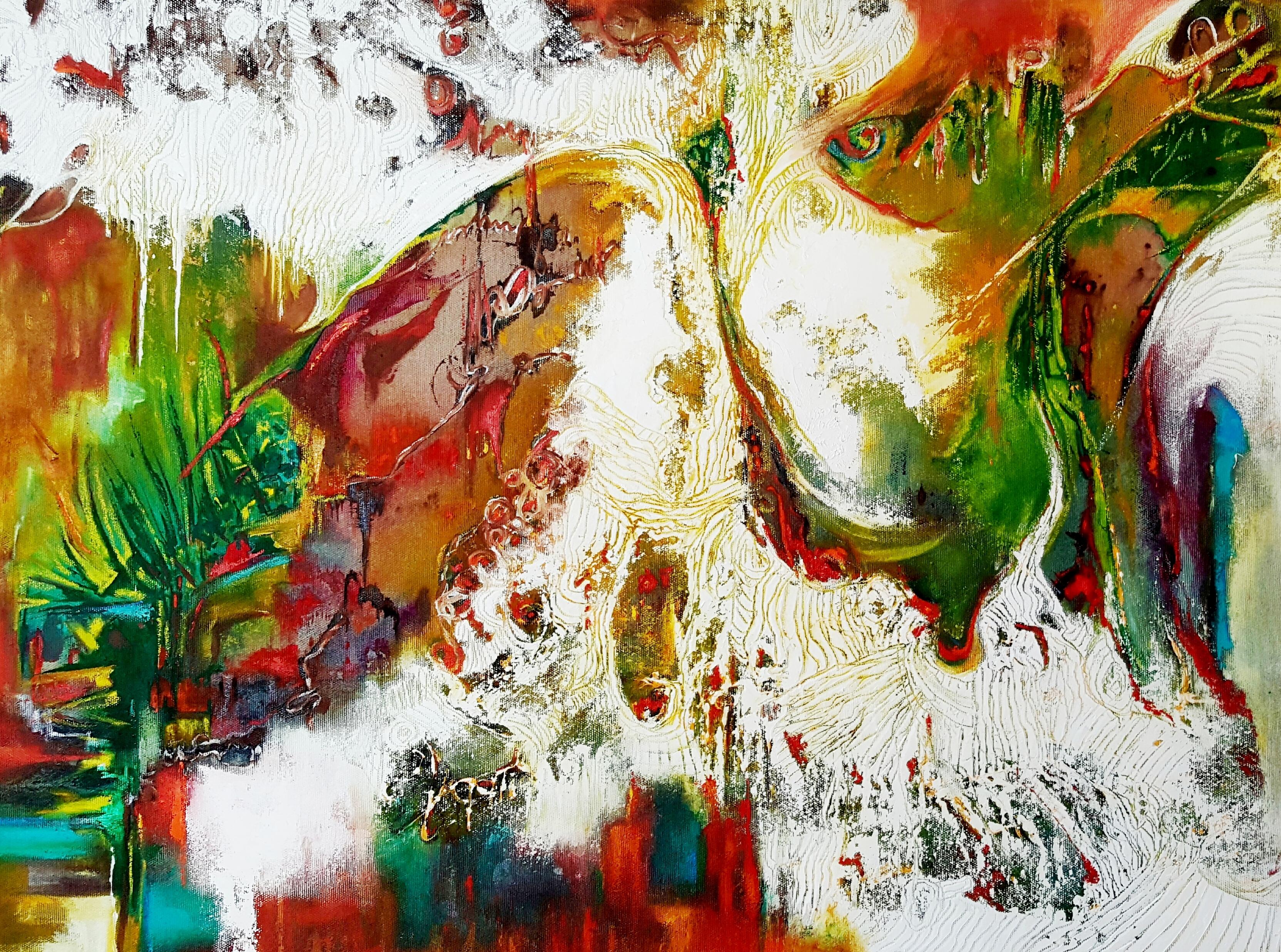 ציור אבסטרקט ציירת דורית