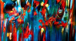 רגעים של שמחה ציור מופשט