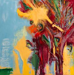 ציור אבסטרקט, ציור מופשט, צמיחה