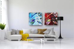 ציורים מופשטים לבית ולמשרד