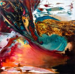 ציור מופשט, ציור אבסטרקט, ציירת רוף דורית, הגל
