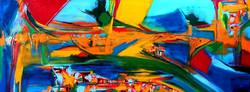 """תנועה בצבע"""" ציור מופשט, ציור אבסטרקט, מקורי שמן על קנבס"""""""